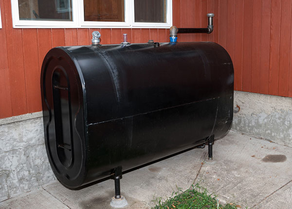 heating oil tank installation in central maine